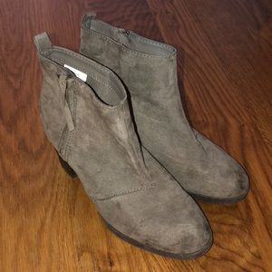 Old Navy Gray Suede Booties